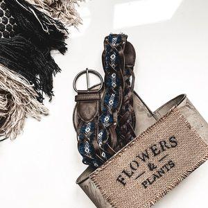 Bohemian fringe hippie braided belt